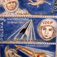 Шагин Дмитрий. Лайка, Терешкова и Леонов в космосе.