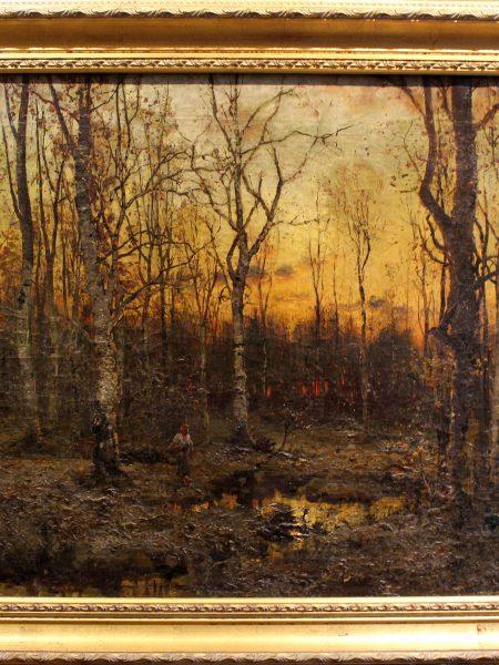 Клевер Юлий старший. Закат в осеннем лесу.