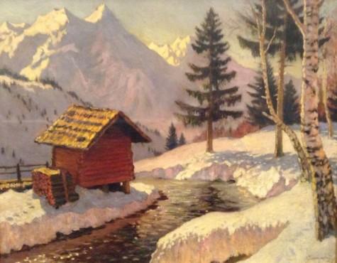 Гермашев Михаил. Зима в Альпах.