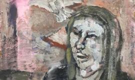 Владимир Яковлев — Портрет Геннадия Айги с голубем