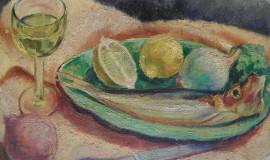 Григорий Пожидаев — Натюрморт с рыбой и лимоном