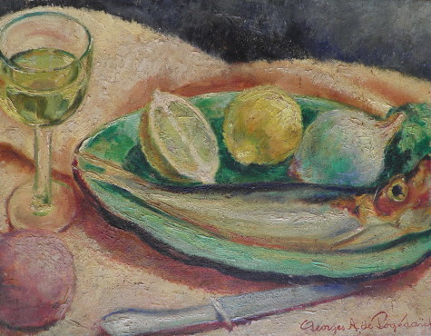 Пожидаев Григорий. Натюрморт с рыбой и лимоном.