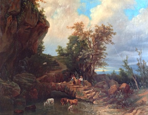Неизвестный художник 19 века. Пастораль.