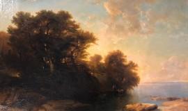Алексей Саврасов. Деревья на закате у реки