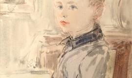 Антонина Софронова — Внук на фоне картины