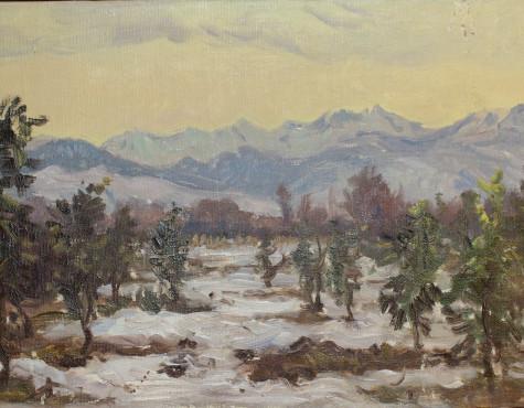 Барто Ростислав. Заснеженные горы.