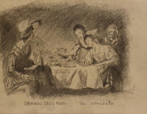 Соостер Юло. Домашний концерт. С картины Джерардо делле Нотти.