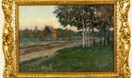 Станислав Жуковский — Вечер в деревне